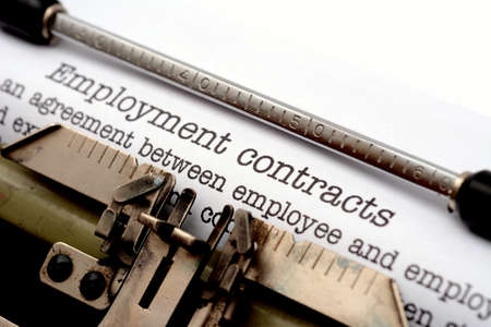 Employment contracts Banque d'images