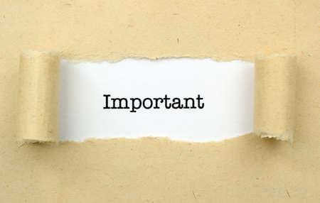 important: Important