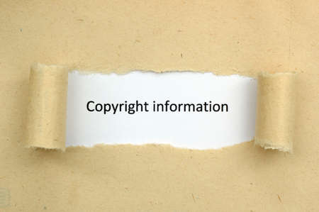 Copyright information photo
