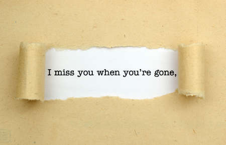 miss you: I miss you Stock Photo