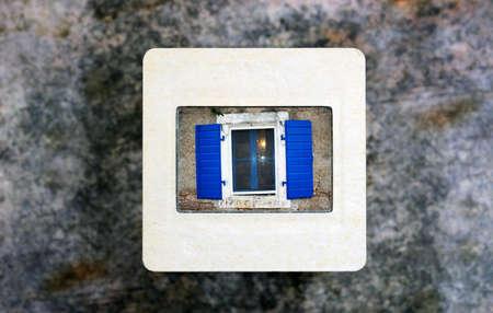 Old window on slide film