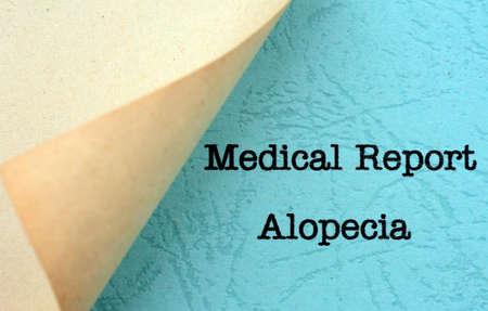 Medical report- alopecia photo