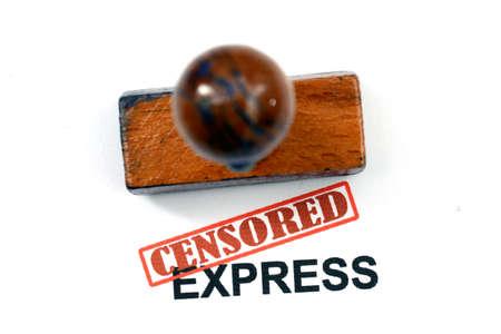 censored: Censored expess Stock Photo