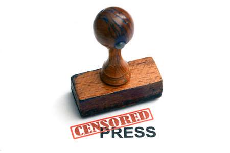 Censored press photo