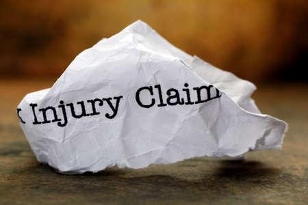 Injury claim photo
