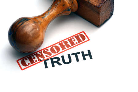 withhold: Censored truth stamp Stock Photo