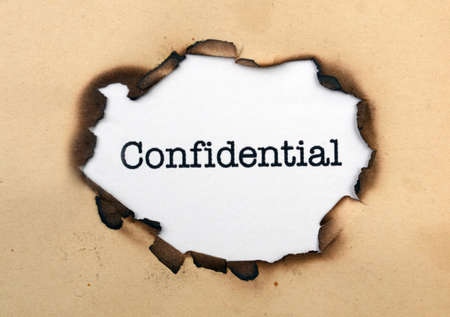Confidential on paper hole photo