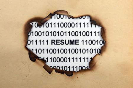 Resume paper hole photo