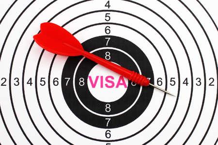 Visa target photo