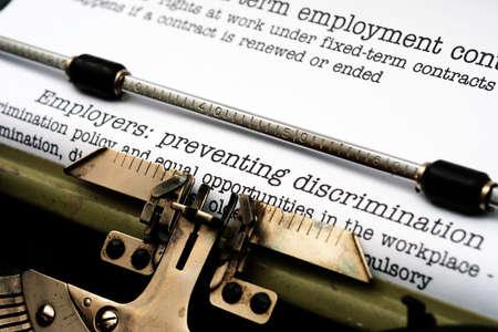 discriminacion: La discriminación de los empleados