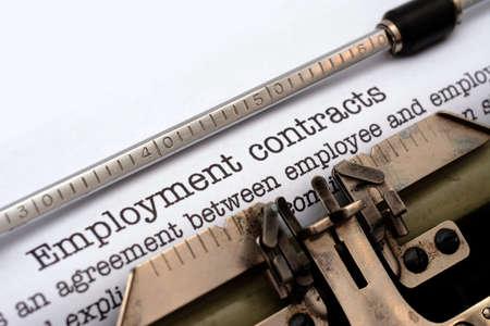 contrato de trabajo: Contrato de trabajo Foto de archivo