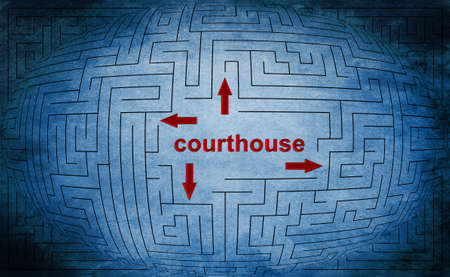Courthouse maze concept photo