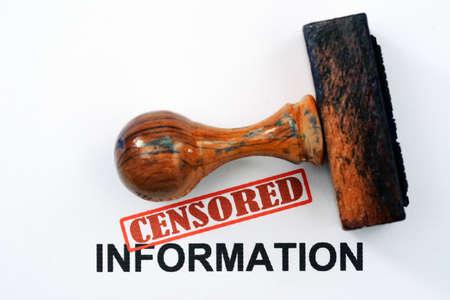 Censored information photo