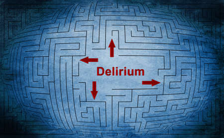 delirium: Delirium maze concept Stock Photo