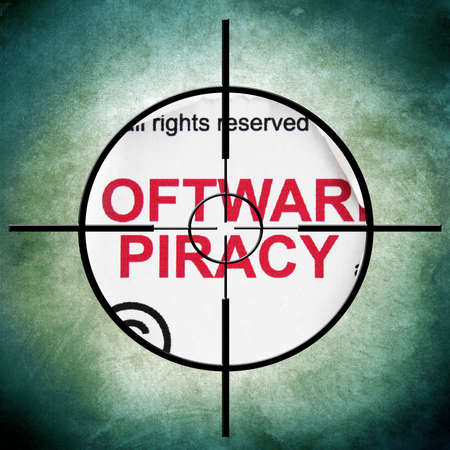 cyber defence: Piracy target Stock Photo
