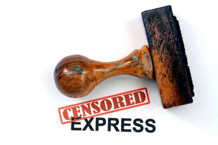censored: Censored express Stock Photo