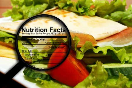 食糧栄養物の事実 写真素材