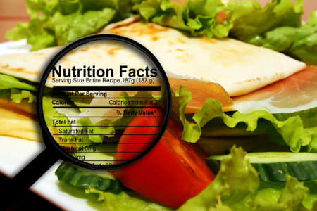 Food nutrition facts 免版税图像 - 30353944