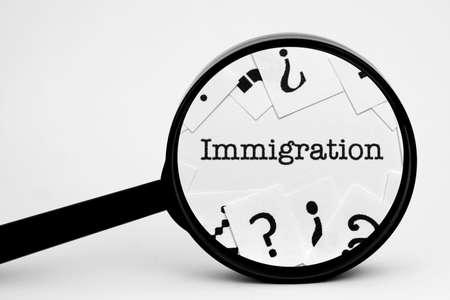 Immigration Archivio Fotografico
