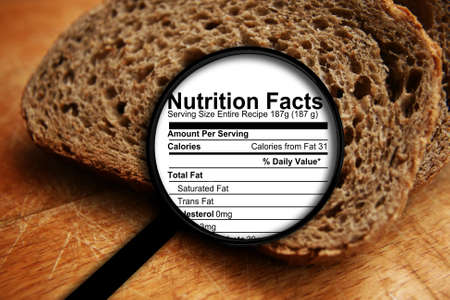 nutrition label: Bread nutrition facts
