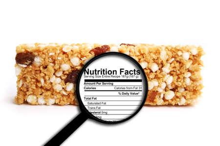 栄養物の事実 写真素材