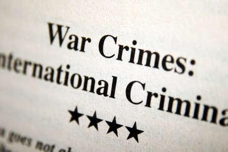 war crimes: War crimes