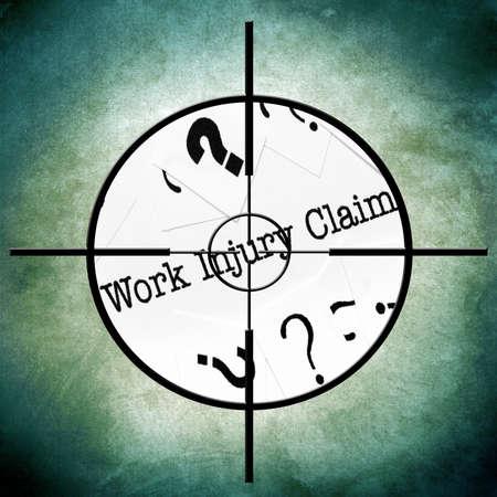 Work injury claim photo