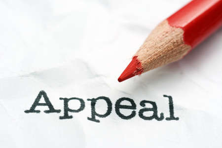 appeal: Appeal text and pencil Stock Photo