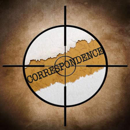 correspondencia: Objetivo Correspondencia Foto de archivo