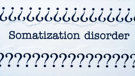 somatic: Somatization disorder Stock Photo