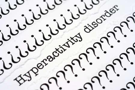 hyperactivity: Hyperactivity disorder