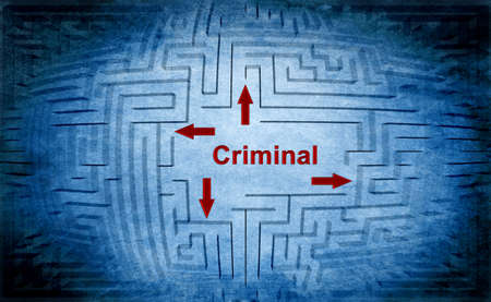 criminal: Criminal maze concept