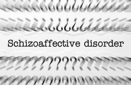 psychosocial: Schizoaffective disorder Stock Photo