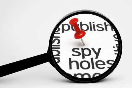 Spy search concept photo