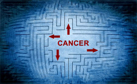 radiation therapy: Cancer maze concept