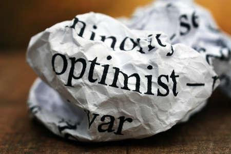 Optimist concept photo