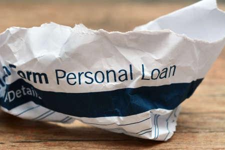 Loan form trash concept