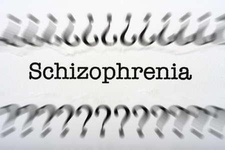 esquizofrenia: Concepto de Esquizofrenia Foto de archivo