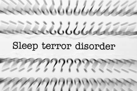 somnambulism: Sleep terror disorder