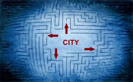 City maze concept photo