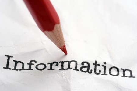 Information Stockfoto
