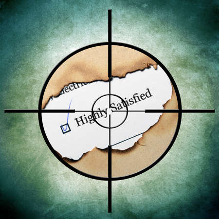 Survey target concept photo