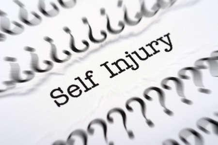 asperger: Self injury disease Stock Photo