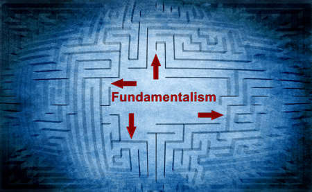 unbiased: Fundamentalism maze concept