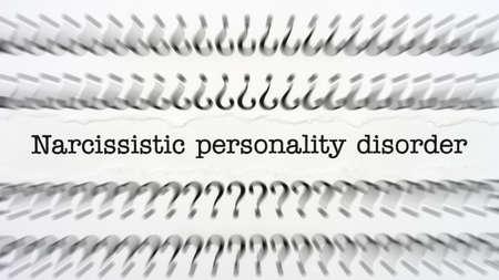 egoista: Trastorno de personalidad narcisista Foto de archivo
