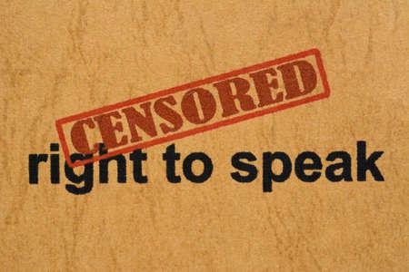 censored: Censored right to speak
