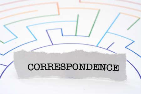 Correspondence text on maze
