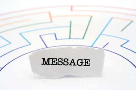 message text: Message text on maze