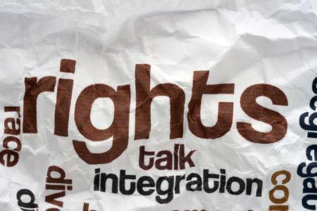 influencer: Broken rights to talk Stock Photo