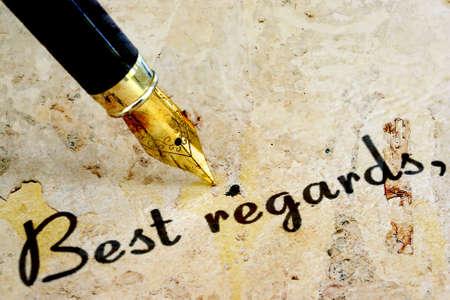 best regards: Best regards